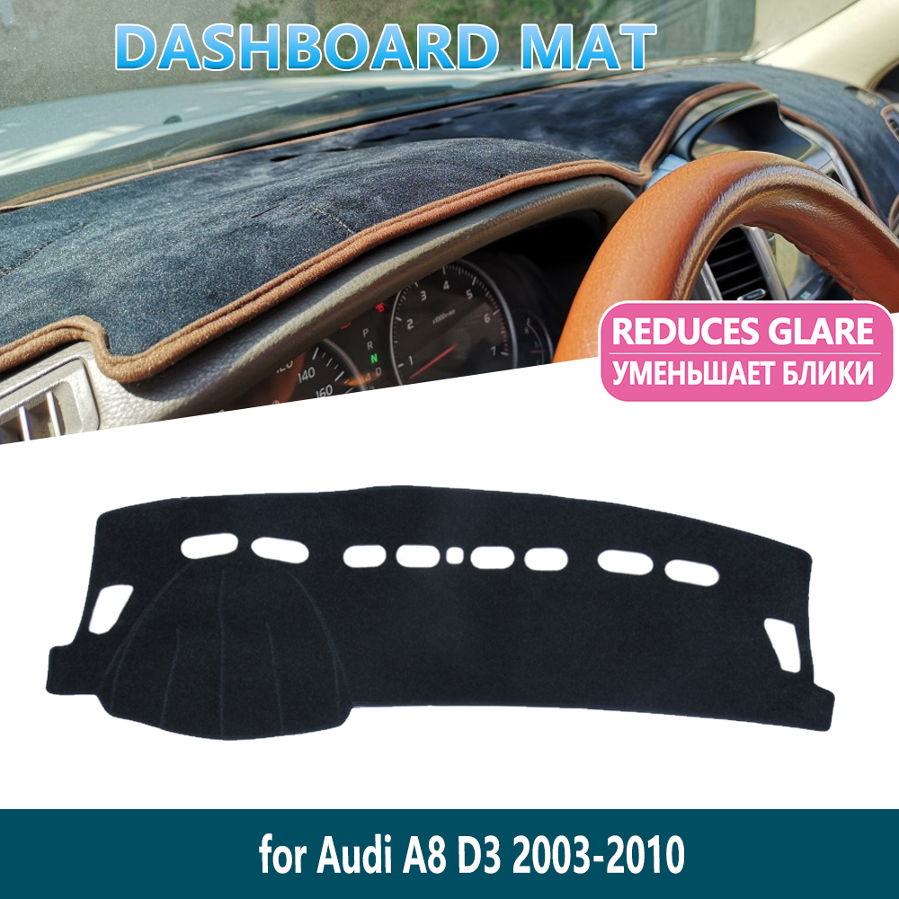 for <font><b>Audi</b></font> <font><b>A8</b></font> <font><b>D3</b></font> 2003~2010 <font><b>4E</b></font> 2008 2009 S-line Anti-Slip Mat Dashboard Mat Cover Pad Inner Sun Shade Dash board Car Accessories image