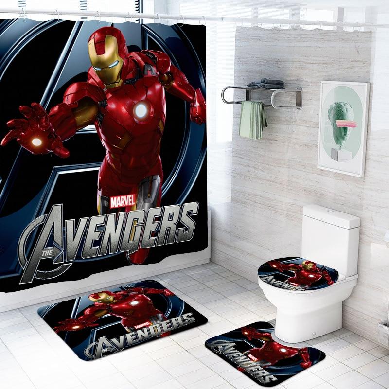 Bathroom Set Waterproof Shower Curtains