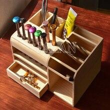 Multi Funktionale Lagerung Box Handy Reparatur Teile Smartphone Öffnung Werkzeuge Schraubendreher Collector Wooden Box