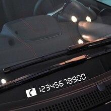 Aliauto cartão de estacionamento temporário refletivo, suprimentos essenciais para carros, números de telefone para vw golf skoda ford focus peugeot toyota