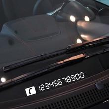 Aliauto反射一時的な駐車カード車の必需品電話番号プレートvwゴルフシュコダフォードフォーカスプジョートヨタ