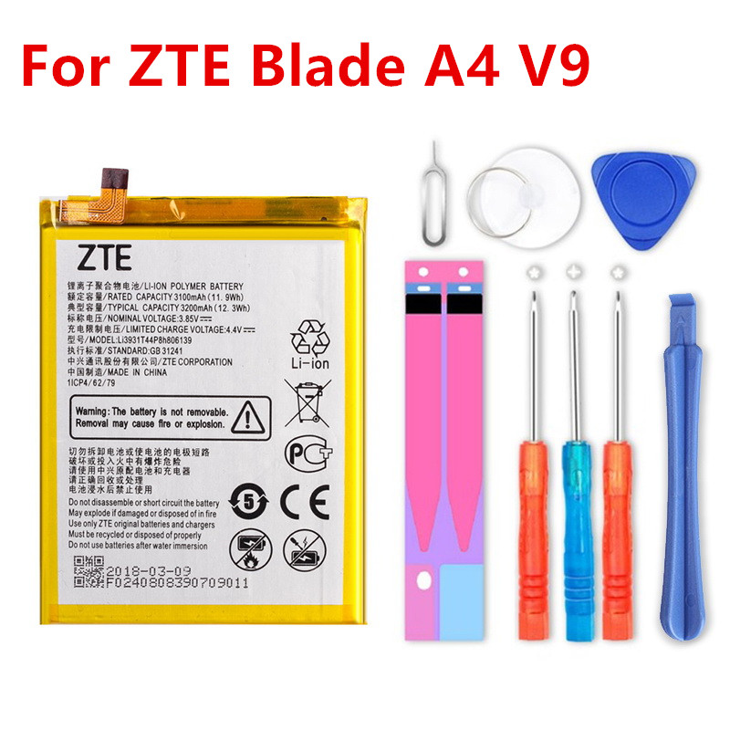 Chensuper Original High Capacity 3.85V 3200mAh Li3931T44P8h806139 For ZTE Blade A4 A0722 V9 Battery+tools
