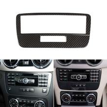 Textura de carbono estilo do carro interior molduras centro controle modo voz quadro capa guarnição para mercedes benz glk x204 2013 2014
