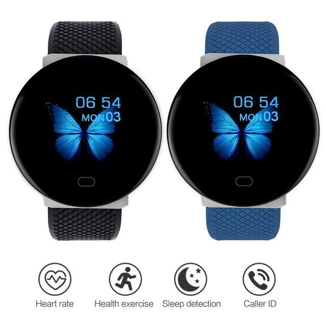 Nouveau D19 étanche Bracelet intelligent Bracelet plein écran moniteur de fréquence cardiaque podomètre Bracelet Sport montre intelligente hommes femmes SmartWatch