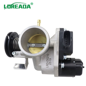LOREADA Original Motorcycle Throttle body for Motorcycle 125 150CC with Delphi IACA 26178 and Three in One Sensor Bore Size 34mm