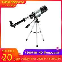 Monocular profesional HD para exteriores 150X, telescopio astronómico refractivo, telescopio de viaje con trípode portátil