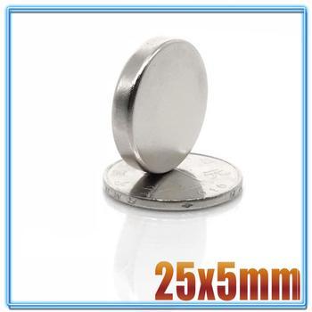 цена на 2/5/10/20Pcs 25x5 Neodymium Magnet 25mm x 5mm N35 NdFeB Round Super Powerful Strong Permanent Magnetic imanes Disc 25*5