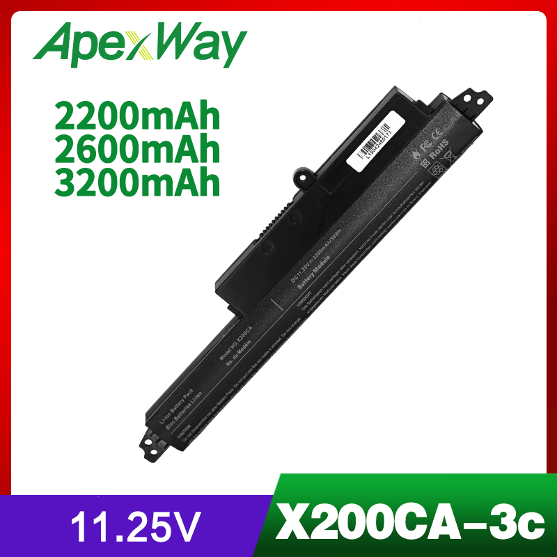 3Cell Laptop Battery For ASUS VIVOBOOK X200CA F200CA 11.6