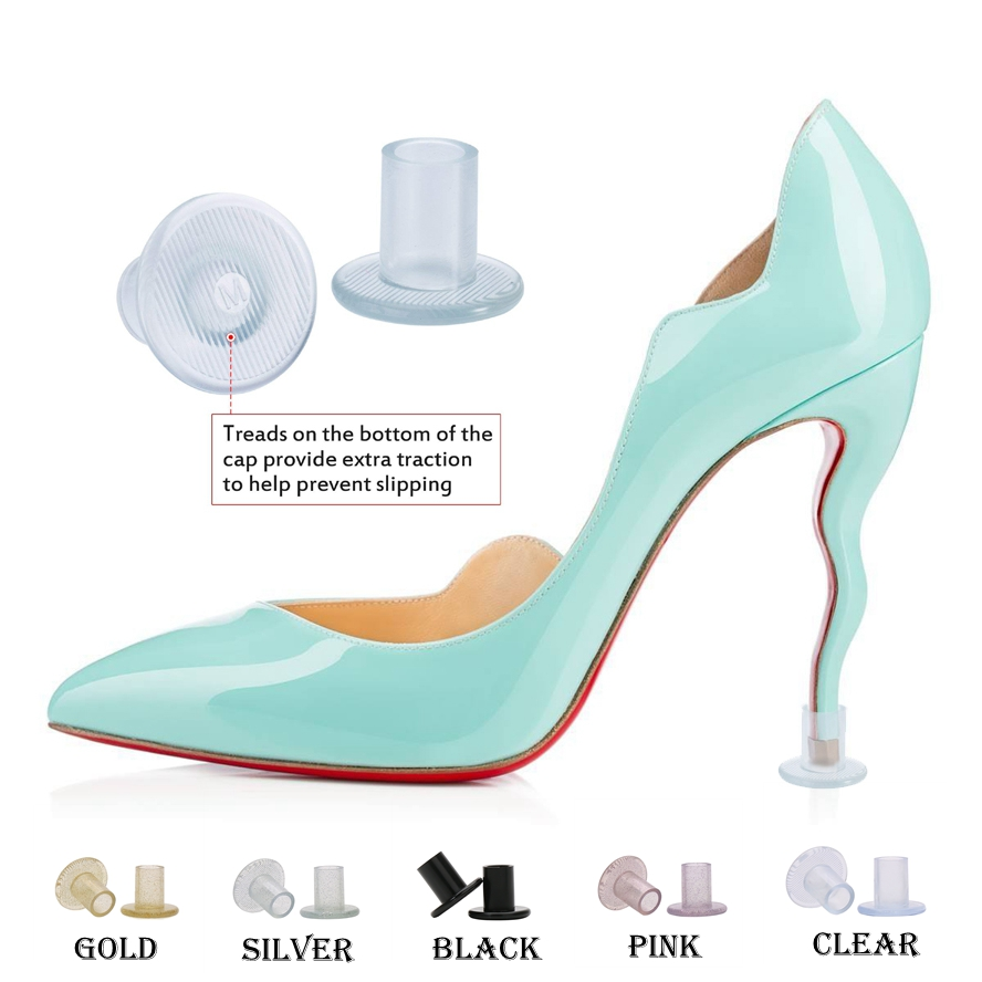 3 Size And 5 Color Silicone Stiletto Heel Protectors Gel Heel Stoppers Plastic Heel Covers For Outdoor Wedding And Parties