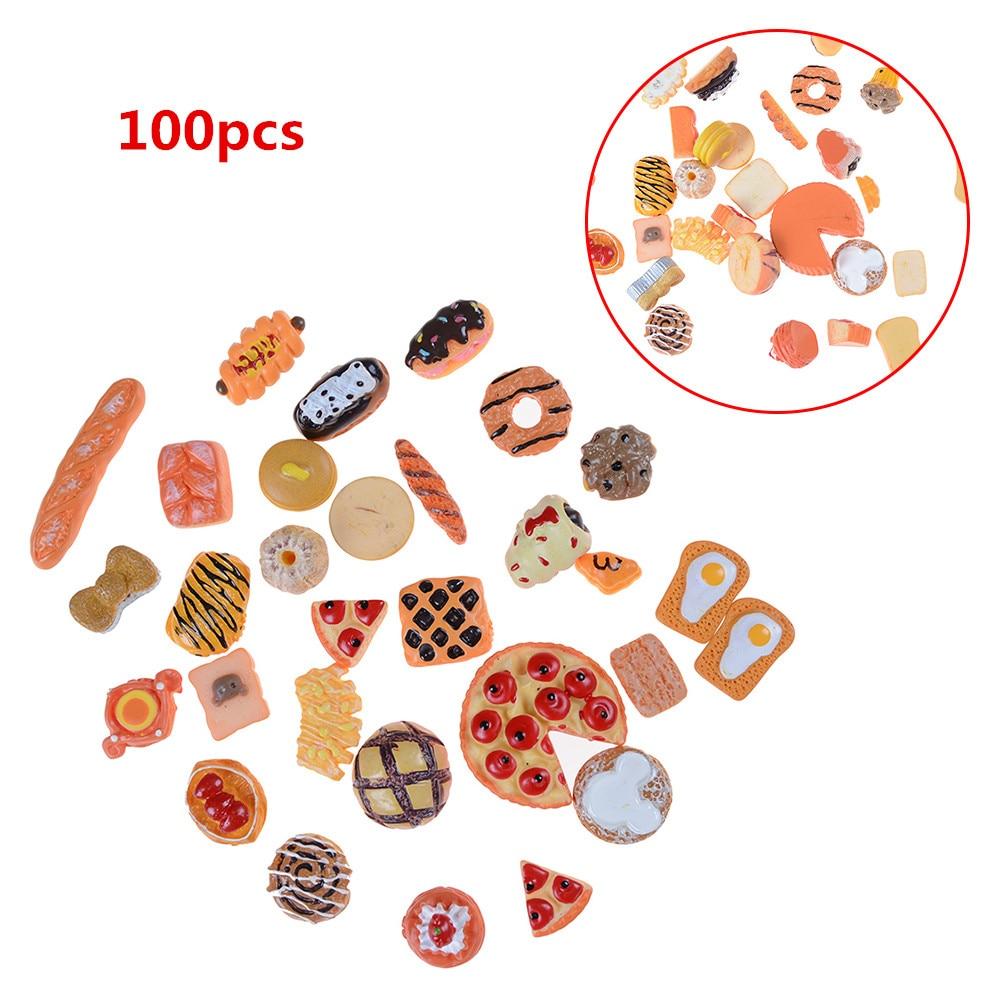 10pcs Mini Craft Food Ornament Miniature Dollhouse Decor Kitchen Toys