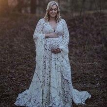 Robe longue de maternité en dentelle et de style Bohème pour femme enceinte,tenue de photographie de grossesse, 2020,