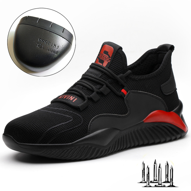 Dropshipping Men Women Work Shoes Steel Toe cap Safety Boots European Standard Anti-smash Anti-puncture Sport Shoes Safety Shoes 2