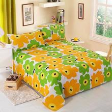 Cotton Fitted Sheet 3 Pcs Bed Set Bedsheets Queen King Twin Size 1 Pc Bed Sheet + 2 Pillowcase Bed Linen Sheet