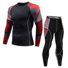 New thermal underwear set men's hot shirt compression fleece
