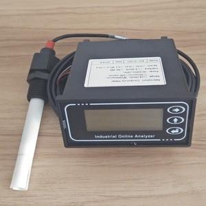 Medidor do verificador do monitor da condutividade analisador em linha industial ec controlador sonda 5 m faixa 0-20us 20ms 200ms 2000us 4000us/cm