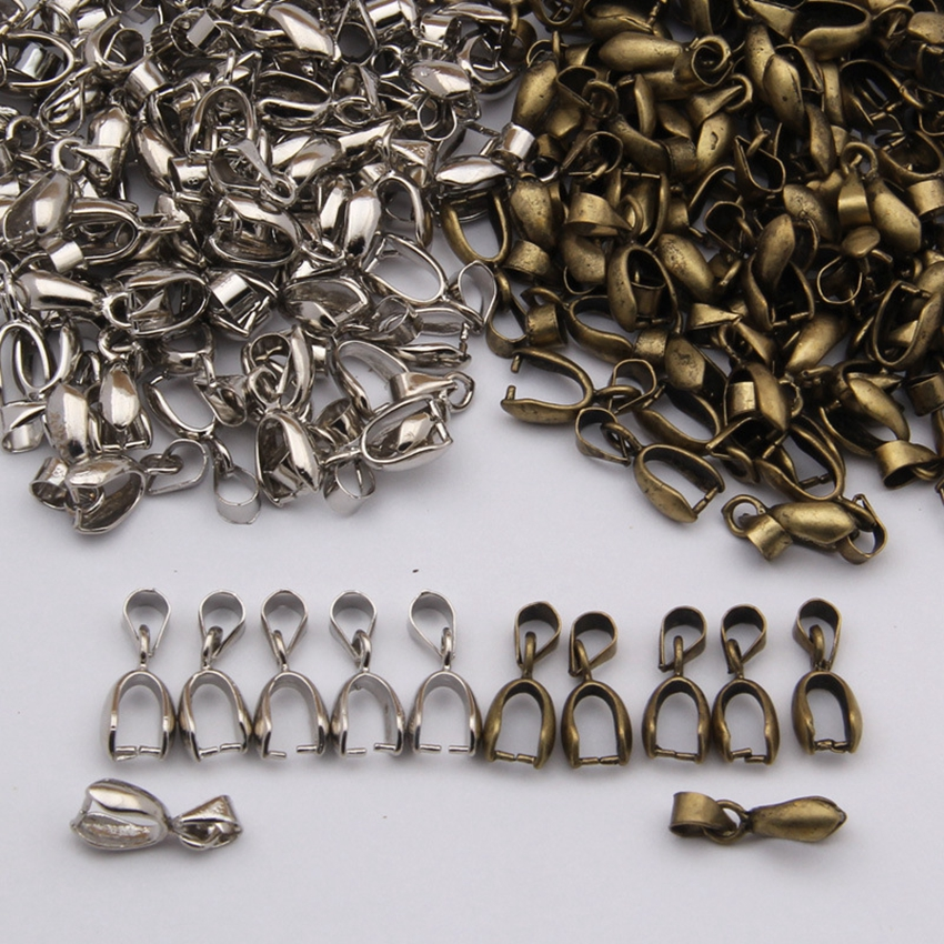 20 Pcs/Lot Pendant Clip Hooks Bails Connectors Accessories Jewelry Findings Charm Clasps For Jewelry Making DiY Supplies
