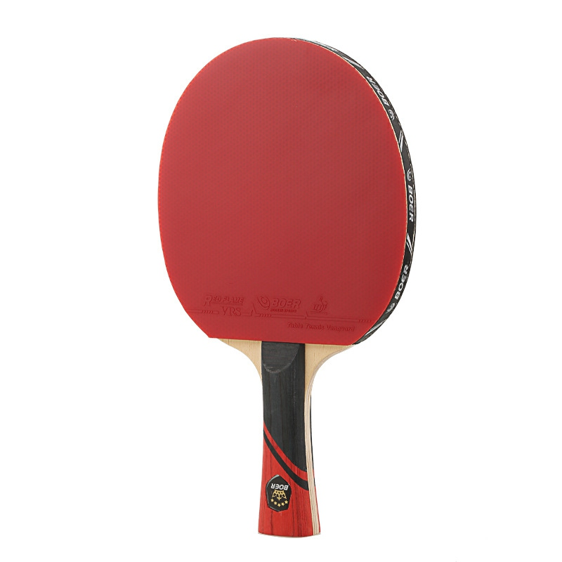 Straight/horizontal Grip Table Tennis Racket With Case HE Rubber Table Tennis Paddle Professional Pingpong Racket