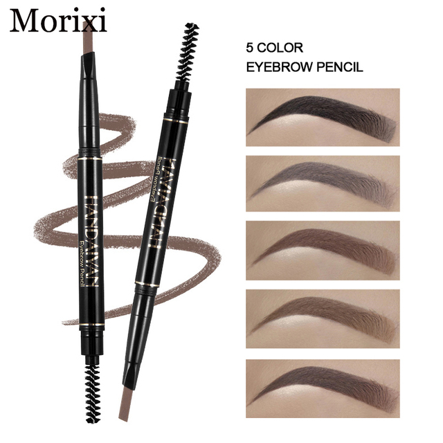 Handaiyan dual ended automatic eyebrow pencil waterproof long lasting grey black eyebrow pomade microblading tattoo pen HF110