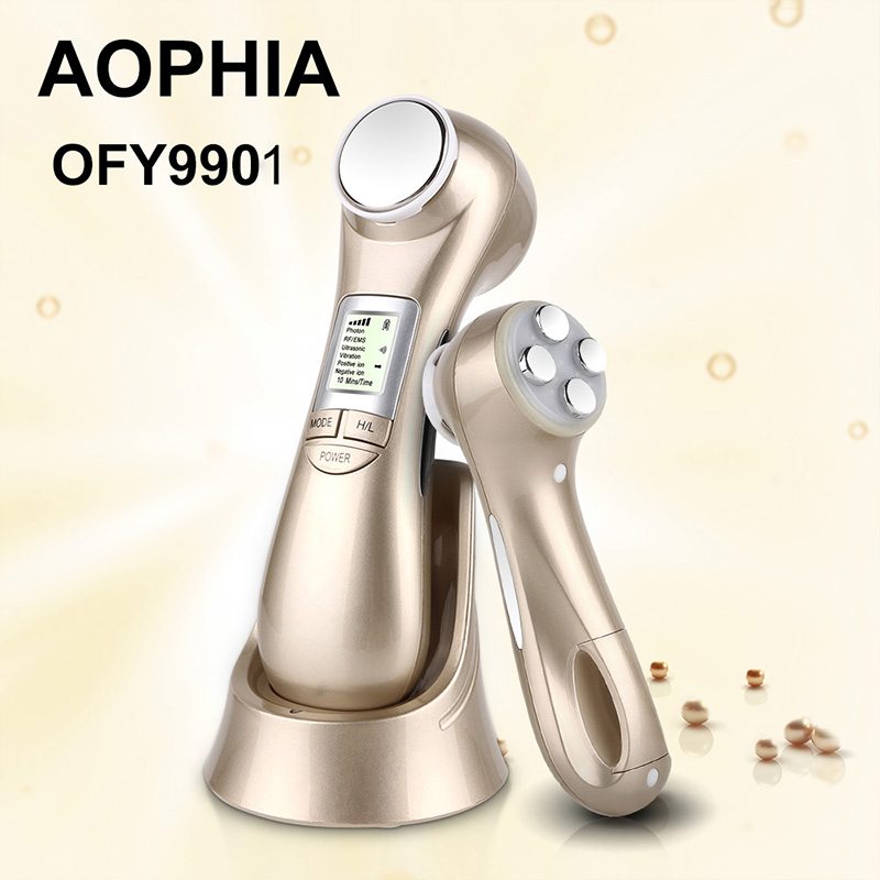 Face Skin Care Machine Rf Skin Rejuvenation Microcurrent Ultrasonic Facial Machine Portable Led Light Therapy For Wrinkle Remova