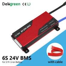 6S 24V BMS 80A 100A 150A 200A pour batterie au lithium 18650 pack évalué 3.7V Li ion li po batterie