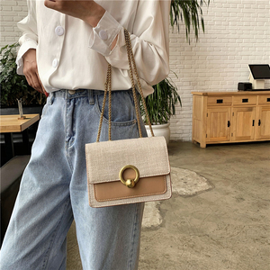 bags for women 2020 Fashion linen square women's chain Shoulder Messenger Bag purses and handbags crossbody bags for women