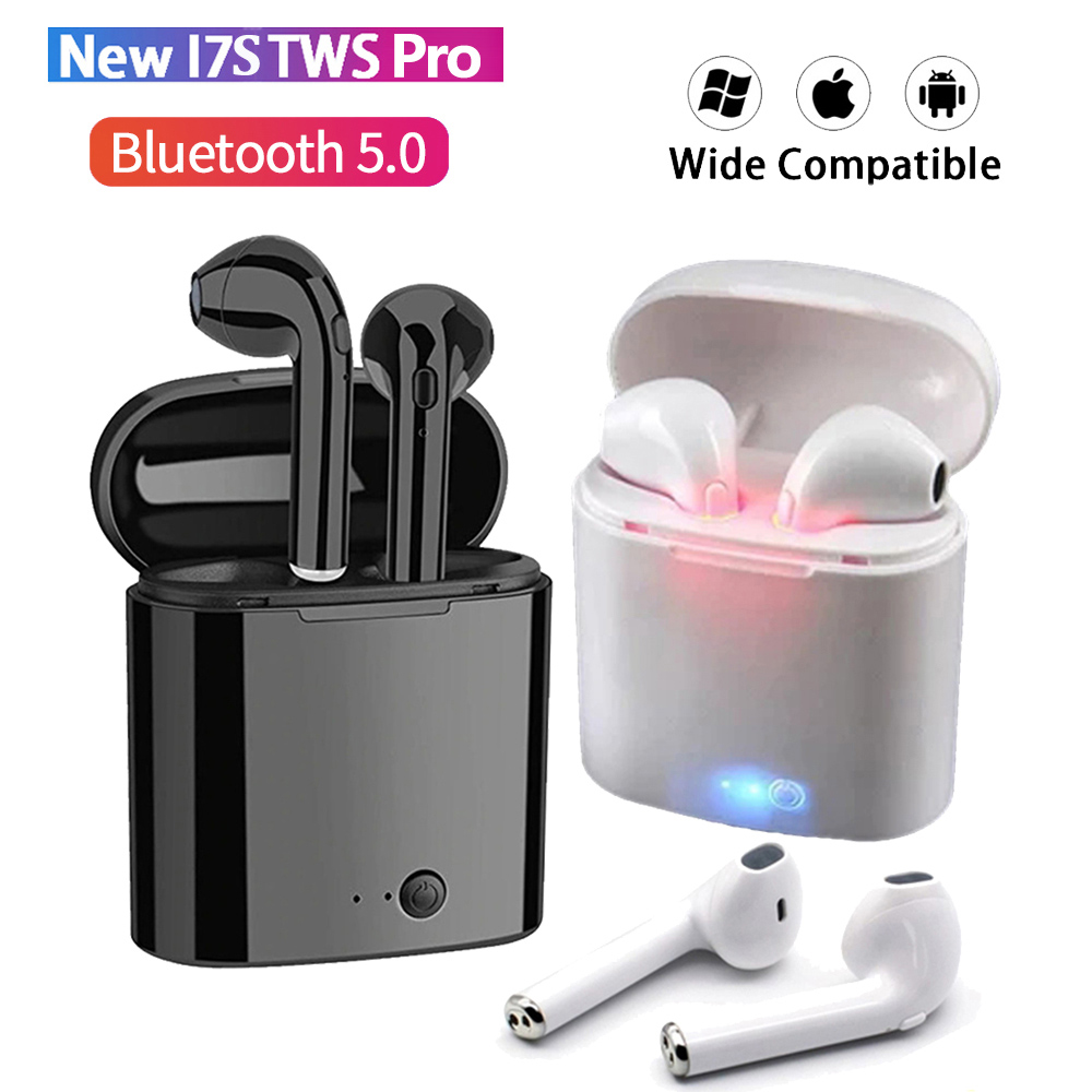 i7s Tws Wireless Bluetooth Earphones Mini Stereo Bass Earphone Earbuds Sport Headset with Charging Box for iPhone Xiaomi Huawei