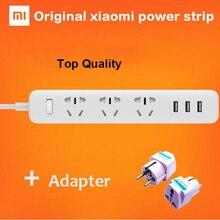 100% 원래 xiaomi mi 전원 스트립 250V 충전 3 USB 확장 소켓 플러그 6 출력 플러그 EU/AU/UK/US 표준 소켓