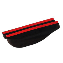 цена на 2pcs PVC Car Rear View Mirror Black Sticker Rain Eyebrow Weatherstrip Auto Mirror Rain Shield Shade Cover Protector Guard