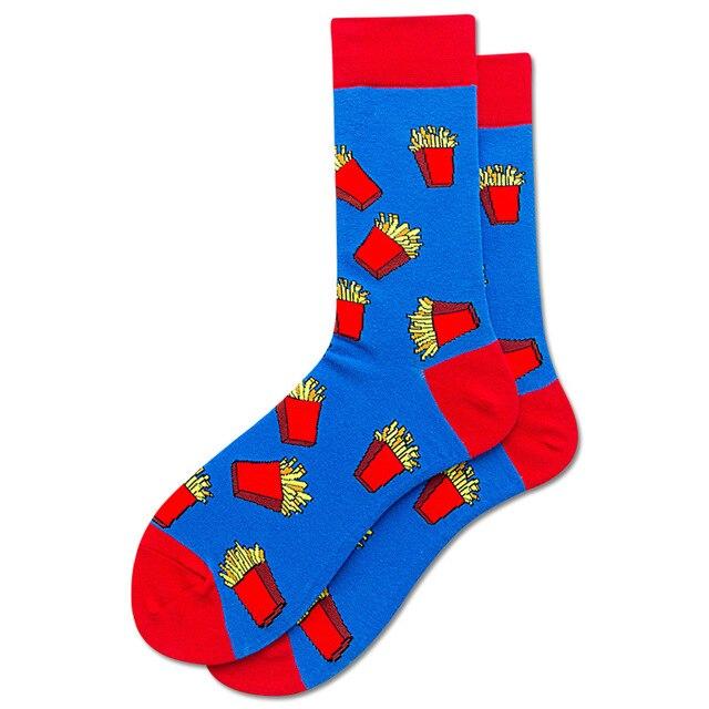 Blue//Red Happy Socks Cherry Men/'s Socks