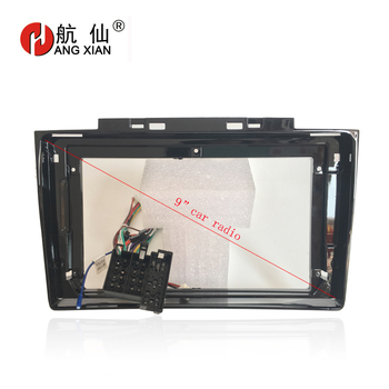 HANGXIAN 2Din Car Radio Fascia frame for Greatwall Hover H5 2013-2016 car DVD gps Panel Dash Kit Installation Frame Trim Bezel 11 297 2 din car radio stereo fascia panel frame dvd dash installation kit for renault duster 2010 logan 2013 sandero 2012