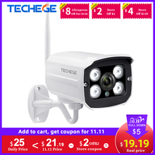 Techege HD 1080P IP אלחוטי מצלמה טלוויזיה במעגל סגור אודיו 2.0MP Bullet אבטחת מצלמה Wifi ראיית לילה מתכת עמיד למים חיצוני מצלמה