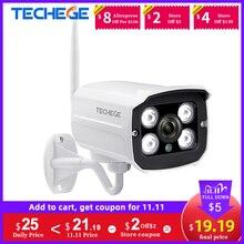 Techege HD 1080P kablosuz IP kamera CCTV ses 2.0MP mermi güvenlik kamerası Wifi gece görüş Metal su geçirmez açık kamera