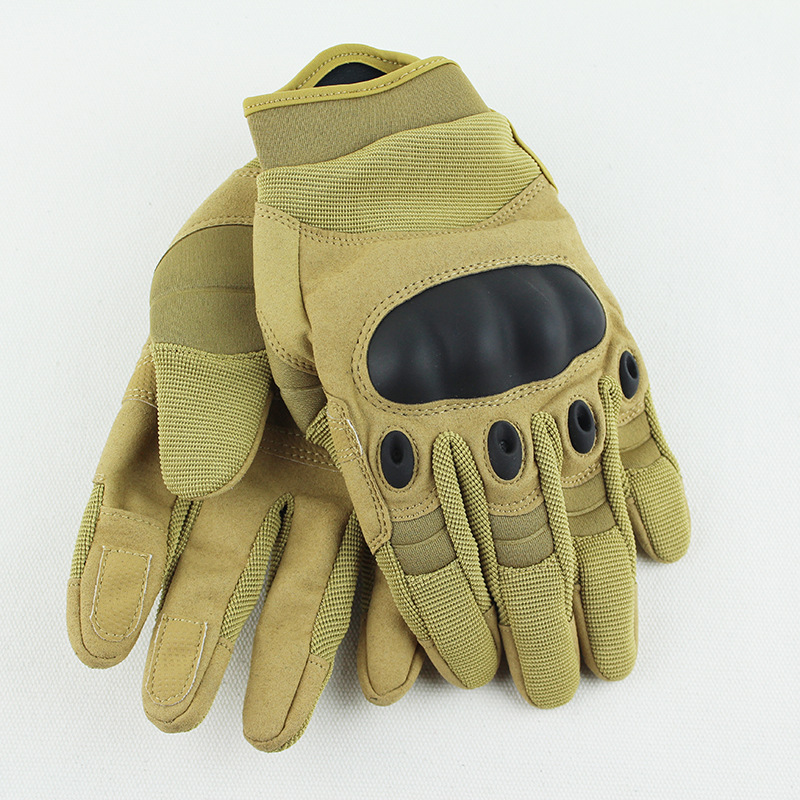 Outdoor Overtaking Black Shell Opening Tactical Half-finger Gloves Sports Fitness Anti-skid Gloves