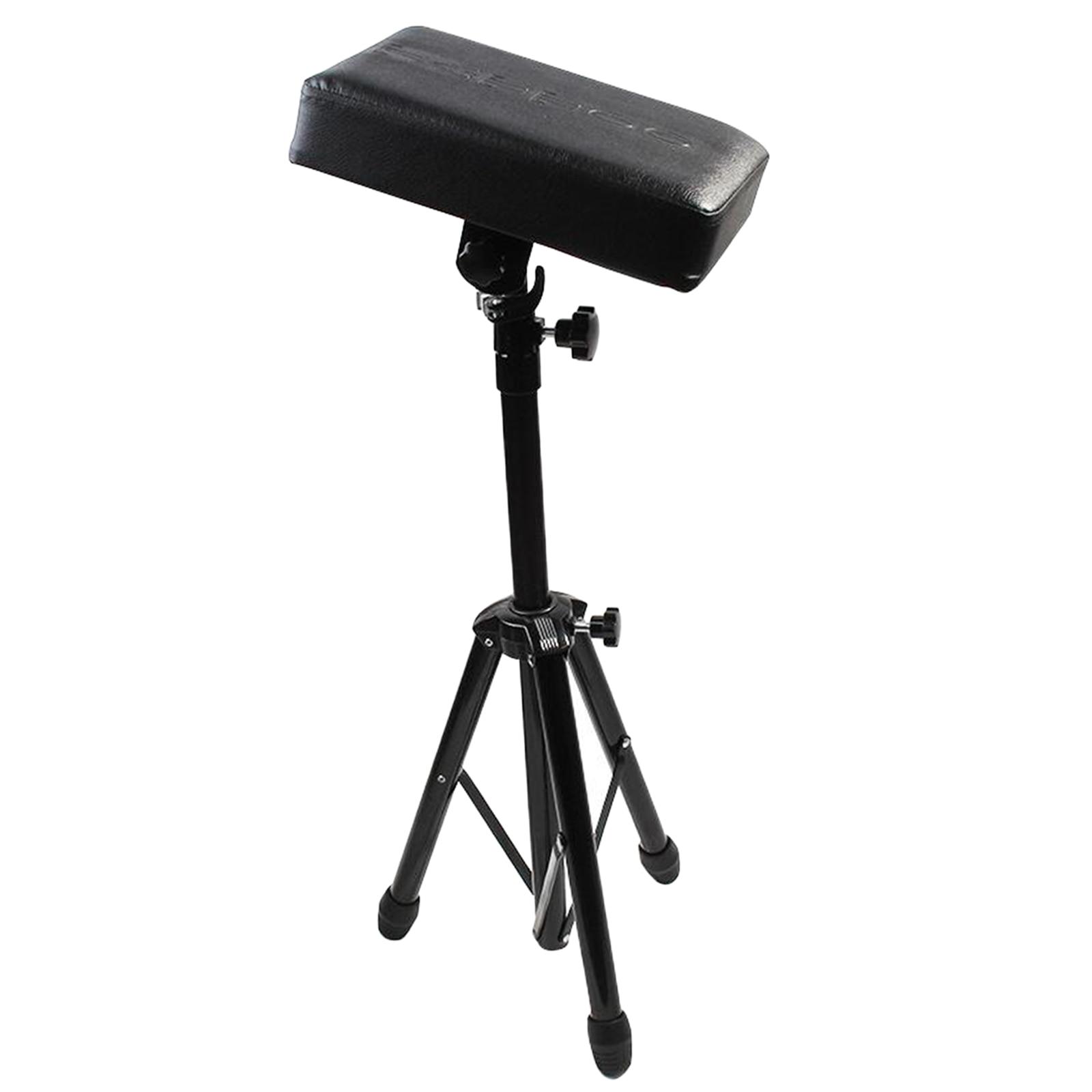 Tattoo Armrest, Tattoo Arm Leg Rest Stand Tripod w/ Adjustable Height for Tattoo Supply Stand Studio Chair Stand