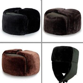 Soviet Army Bombers' Hats, Pilots' Catchers' Commandos' Hats, Winter Men's Fur Earmuffs, Ski Hats, and Thick Plush Hats michał basta wolfen commandos strike force