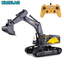 22CH HuiNa 1592 1:14 RC Alloy Excavator Big RC Trucks Engineering Car Simulation Excavator Remote Control Vehicle Toy for Boys