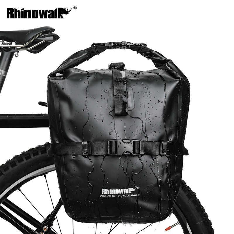 Bike Rear Tail Seat Pannier Bag Pouch Rack Trunk Shoulder Travel Waterproof U4Z0