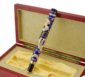 Image 5 - Jinhao stylo fontaine à Double Dragon fait à la main, Iridium EF/F/M/Bent, stylo cadeau pour diplômé, écriture artisanale avancée