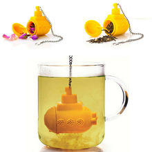 цена на Tea Submarine Loose Tea Leaf Strainer Herbal Spice Silicone Filter Diffuser