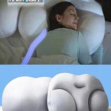 Всесезонная Подушка для сна, мягкая Ортопедическая подушка для шеи с эффектом памяти для яиц, 3D подушка для шеи с микро воздушным шаром, глуб...