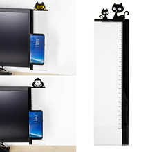 1pc Animal Computer Monitor Message Board Notes Sticker Convenience With Ruler Acrylic Record Holder Adhesive Name Post Card(China)