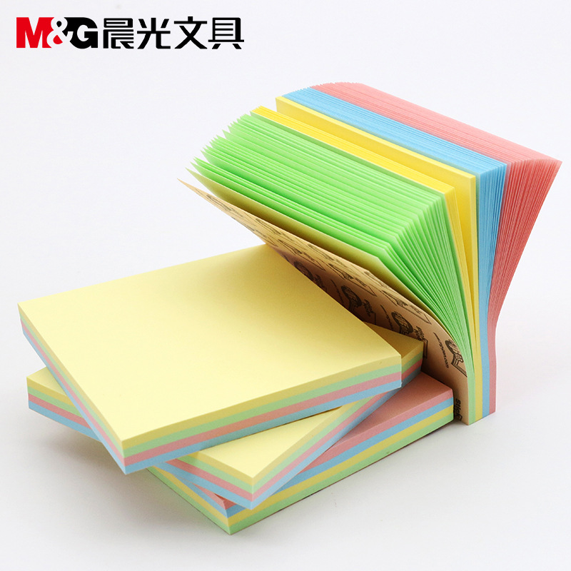 100 Sheets76*102mm Size Color Paper Memo Pad Sticky Notes Bookmark Point It Marker Memo Sticker Office School Supplies Notebooks