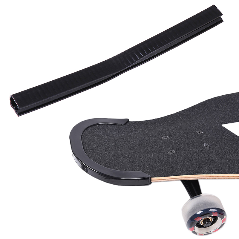 1PC Skateboard Deck Guards Protector U Channel Design Long Board Rubber Strip
