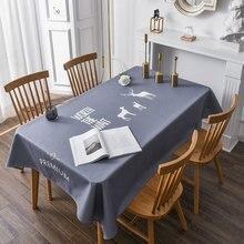 Скатерть на стол 3д Очаровательная 3D скатерть, водонепроницаемая, высокого качества, в скандинавском стиле, с рисунком оленя, утолщенная, покрытие для стола, для дома, вечерние, украшения