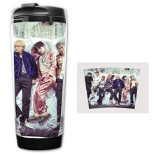 350 мл Kpop кружка Bangtan для мальчиков кружка для свежести воды крылья с чашкой кривая чашка ручное стекло