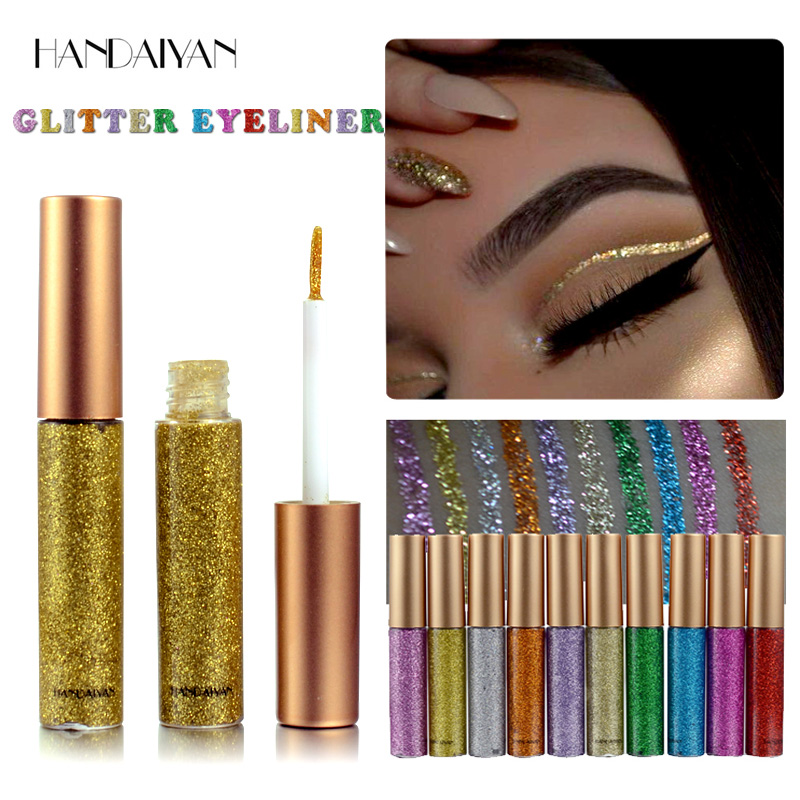 Glitter Liquid Eyeliner Pen Diamond Metallic Shine Eye Shadow & Liner Combination Pencil Eyes Makeup Glow Eyeshadow Cream Stick