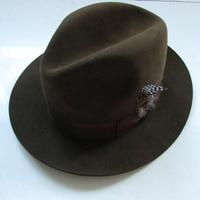Exquisite 100% Rabbit Wool Top Hat for Women Jazz Hats Mad Hatter Cap Bowler Hoeden Cartola Fedora Hat for Men