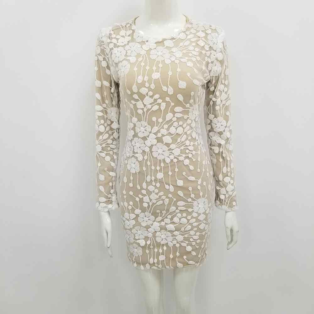 חורף אופנה סקסי ארוך שרוול פאייטים תחבושת שמלת 2020 מעצב ערב מסיבת שמלת Vestido