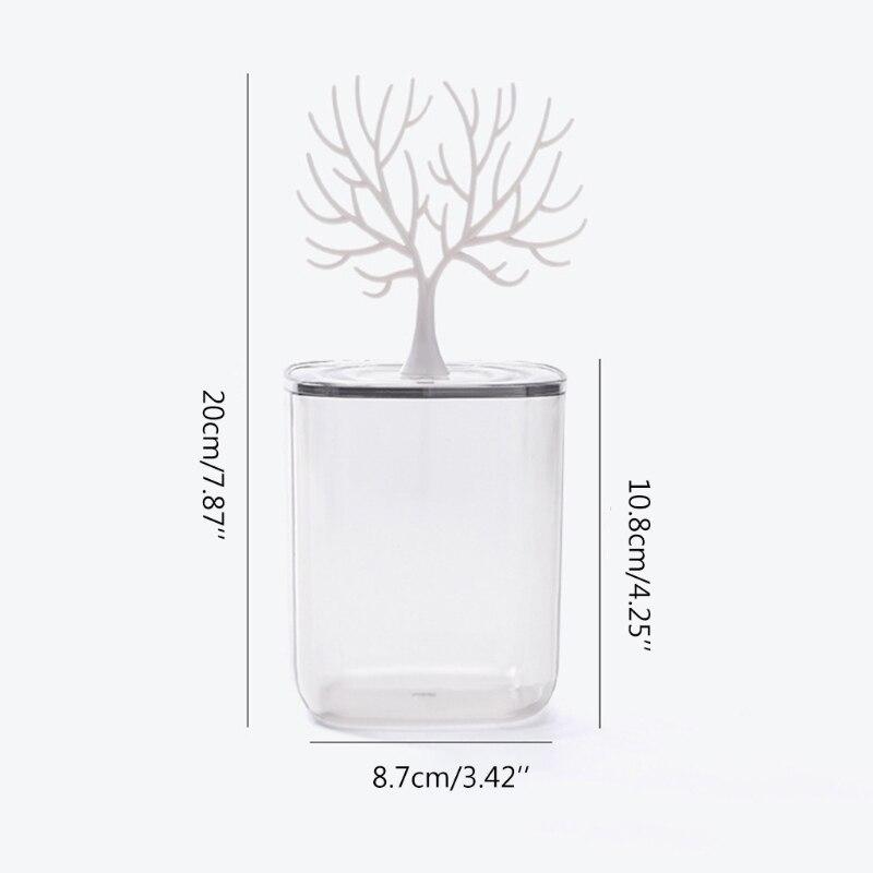 28ta transparente algodão cotonete almofada caixa de