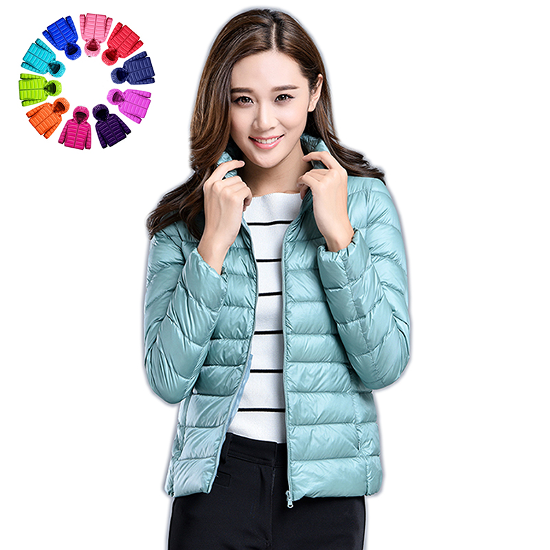Plus Size Women Light Down Jacket Coat 90% White Duck Down Coat Lady Hooded Winter Coat Long Sleeve Warm Slim Autumn Short Coat